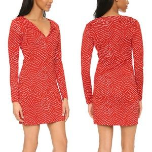 Cute mini polka dot DVF dress